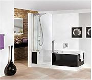 duschabtrennung badewanne glas g nstig online kaufen. Black Bedroom Furniture Sets. Home Design Ideas