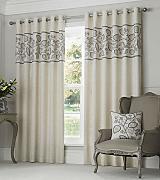 leinen vorh nge grau g nstig online kaufen lionshome. Black Bedroom Furniture Sets. Home Design Ideas